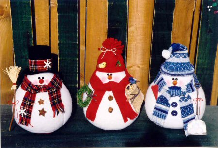 Fabric Snowman Pattern Design Patterns